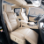代安エルフクッション15-19項トヨタエルフ全カバークッションウェル法シートカバー四季改装アルファベットトヨタ新エルフ/ウェルファルファル全カバー原車の紋様を囲んでシートカバーのベージュ色に乗ります。