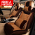 Nanjiren自動車クッション冬季フォードフォックス蒙迪欧福睿斯翼は牡牛座カーニバル冬毛绒自動車クッション秋のフルバックの自動車シートカバーNB 01黒米色-豪華
